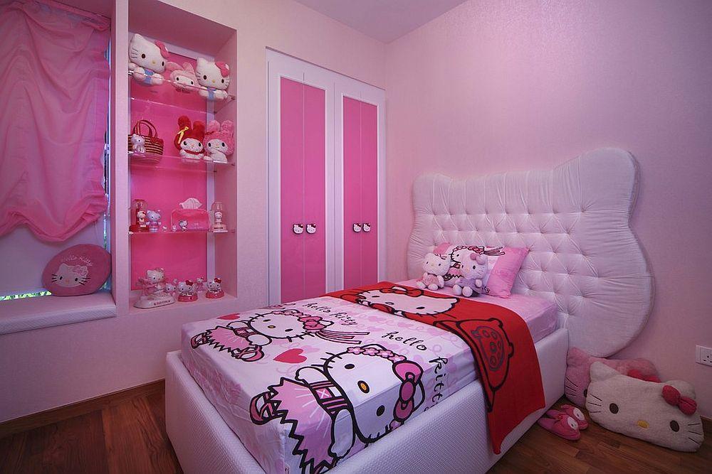 Bilik Dengan Cadar Dan Hiasan Mainan Mewah Hello Kitty Berwarna Pink Untuk Kanak