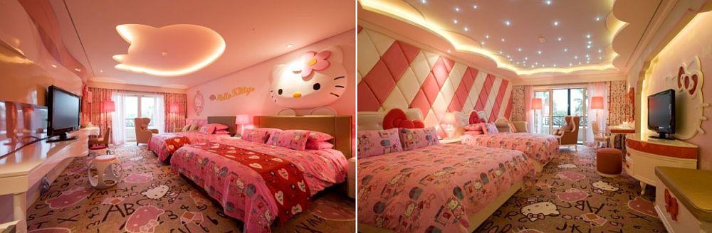 Bilik tidur bertemakan hello kitty nampak mewah untuk gadis remaja
