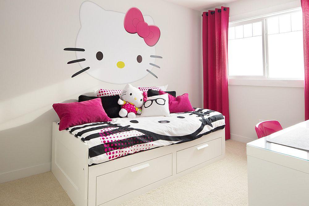 Idea bilik tidur Hello Kitty yang match dengan bilik tidur remaja dan juga dewasa yang suka cute