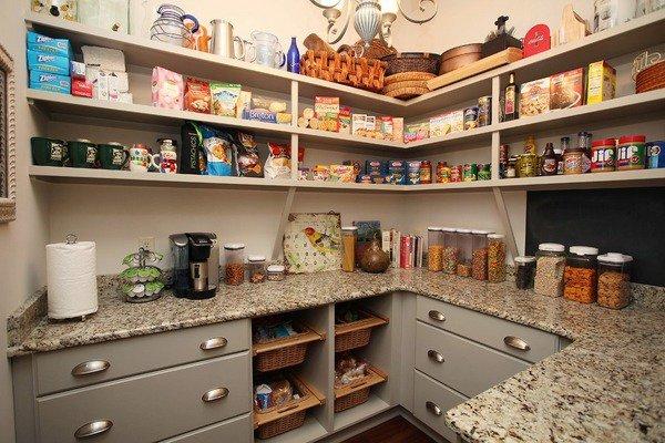 View In Gallery Idea Kabinet Dapur Dengan Rak Terbuka