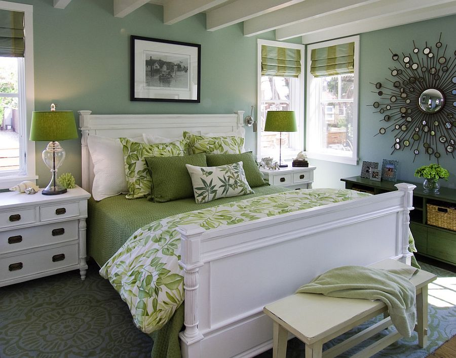 20 Idea Bilik Tidur Bertemakan Hijau Yang Menjanjikan Ketenangan
