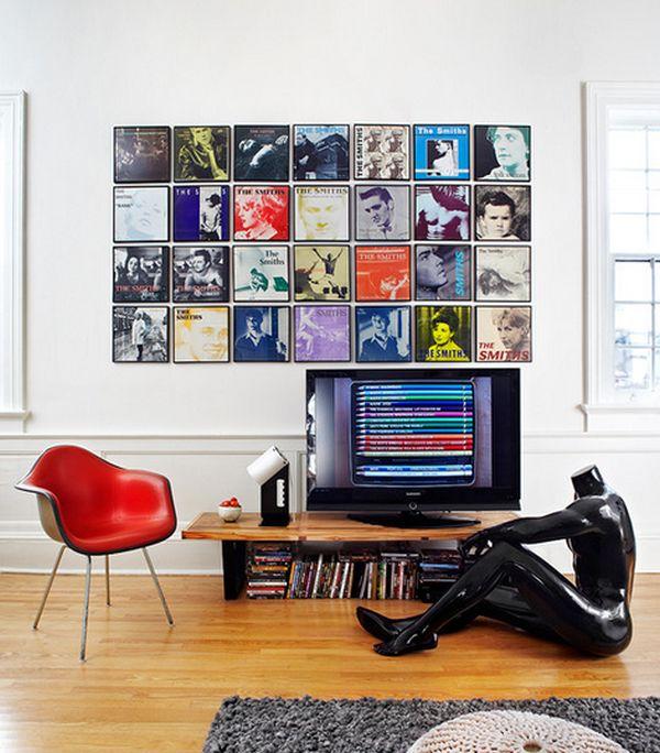 Dekorasi dinding menggunakan plastic cd