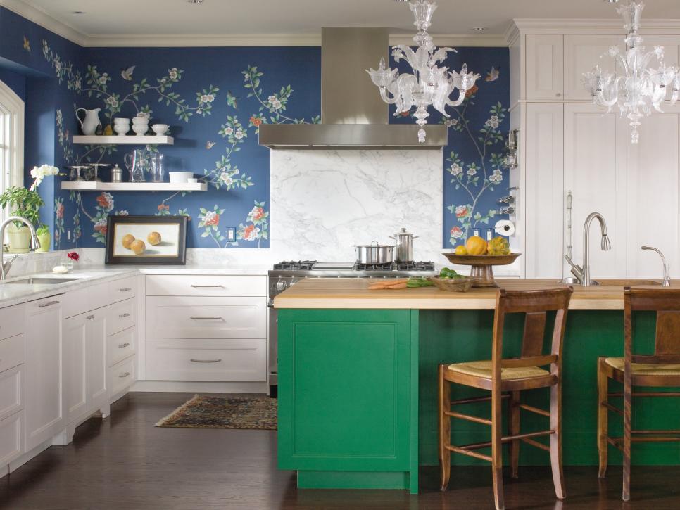 Design Kabinet Dapur Hijau Atau Emerald Green