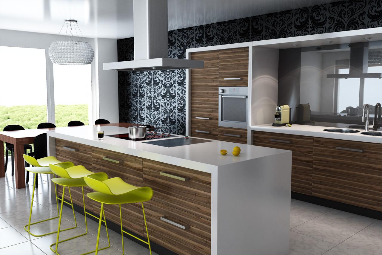 View In Gallery Design Dan Hiasan Dalaman Dapur Banglo Dengan Kabinet Minimalis