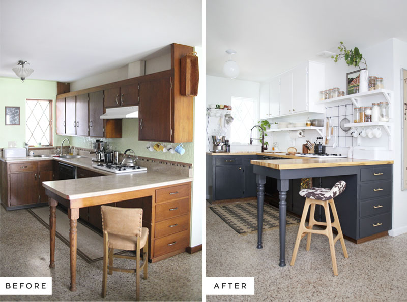View In Gallery Hiasan Dalaman Dapur Sebelum Dan Selepas Menukar Tombol Kitchen Cabinet