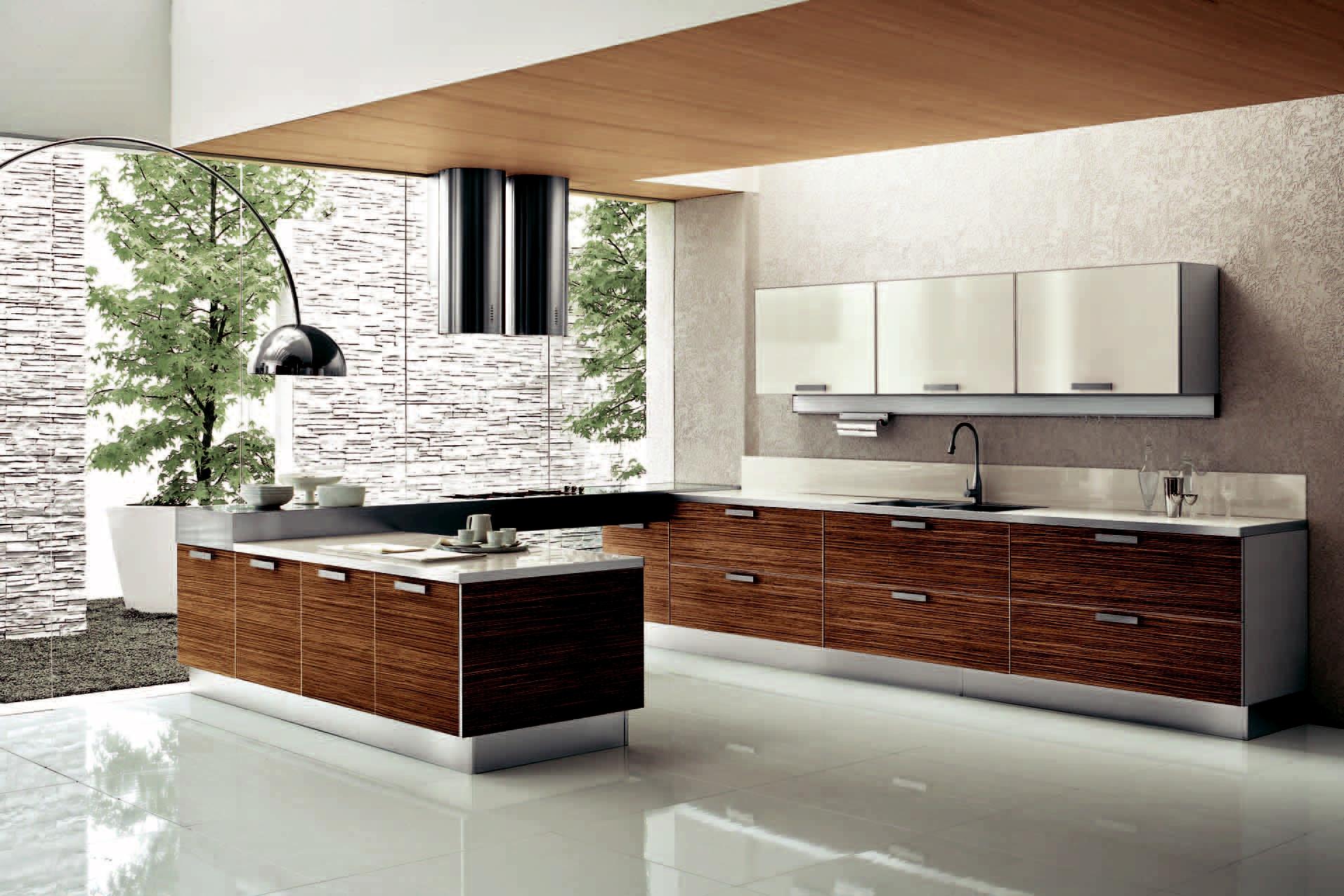 model dapur minimalis dengan backsplash di dinding dapur