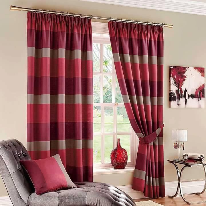 20 Design Langsir Terkini Merah Untuk Hiasan Tingkap Pintu Kediaman Anda