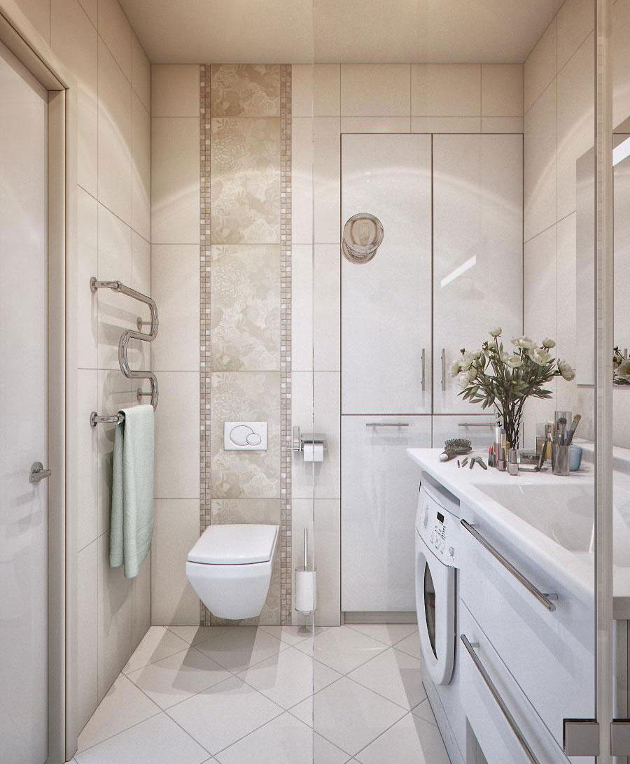 Design bilik air kecil terbaik dengan tema putih moden
