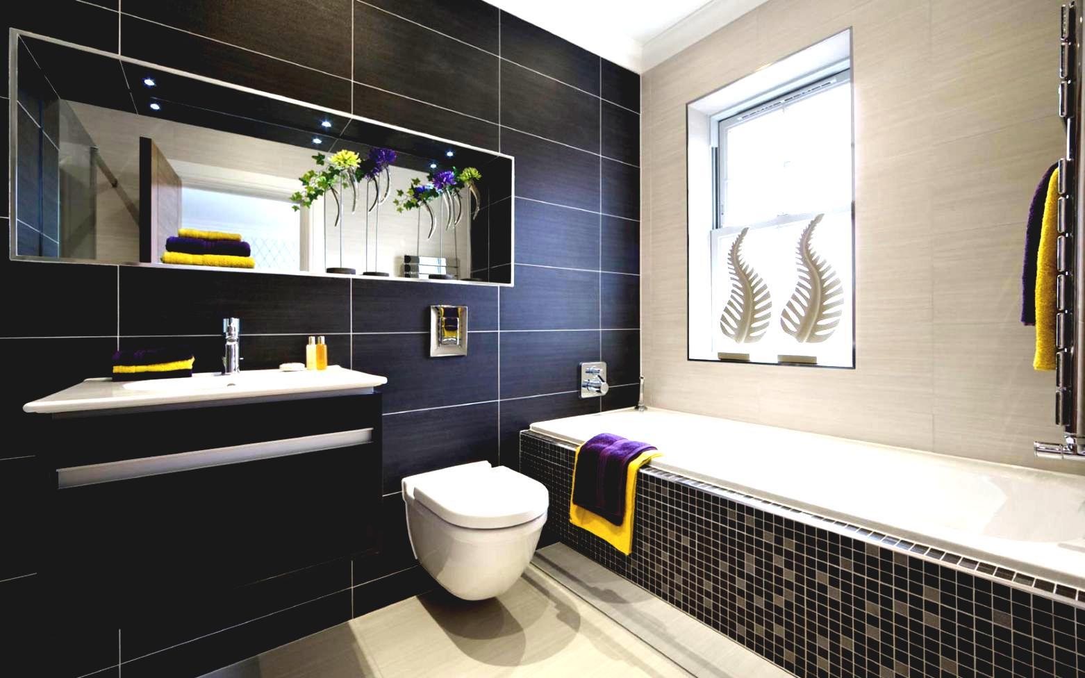 Design bilik air sedehana kecil dengan hiasan dalaman menarik