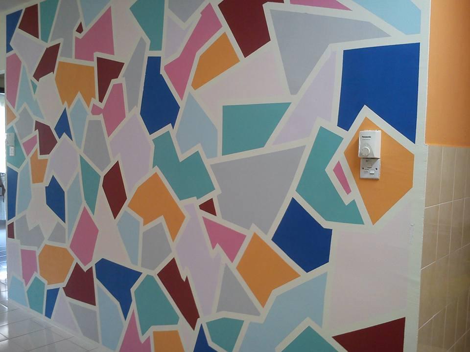 Diy cat dinding ruang makan yang kreatif dan cantik