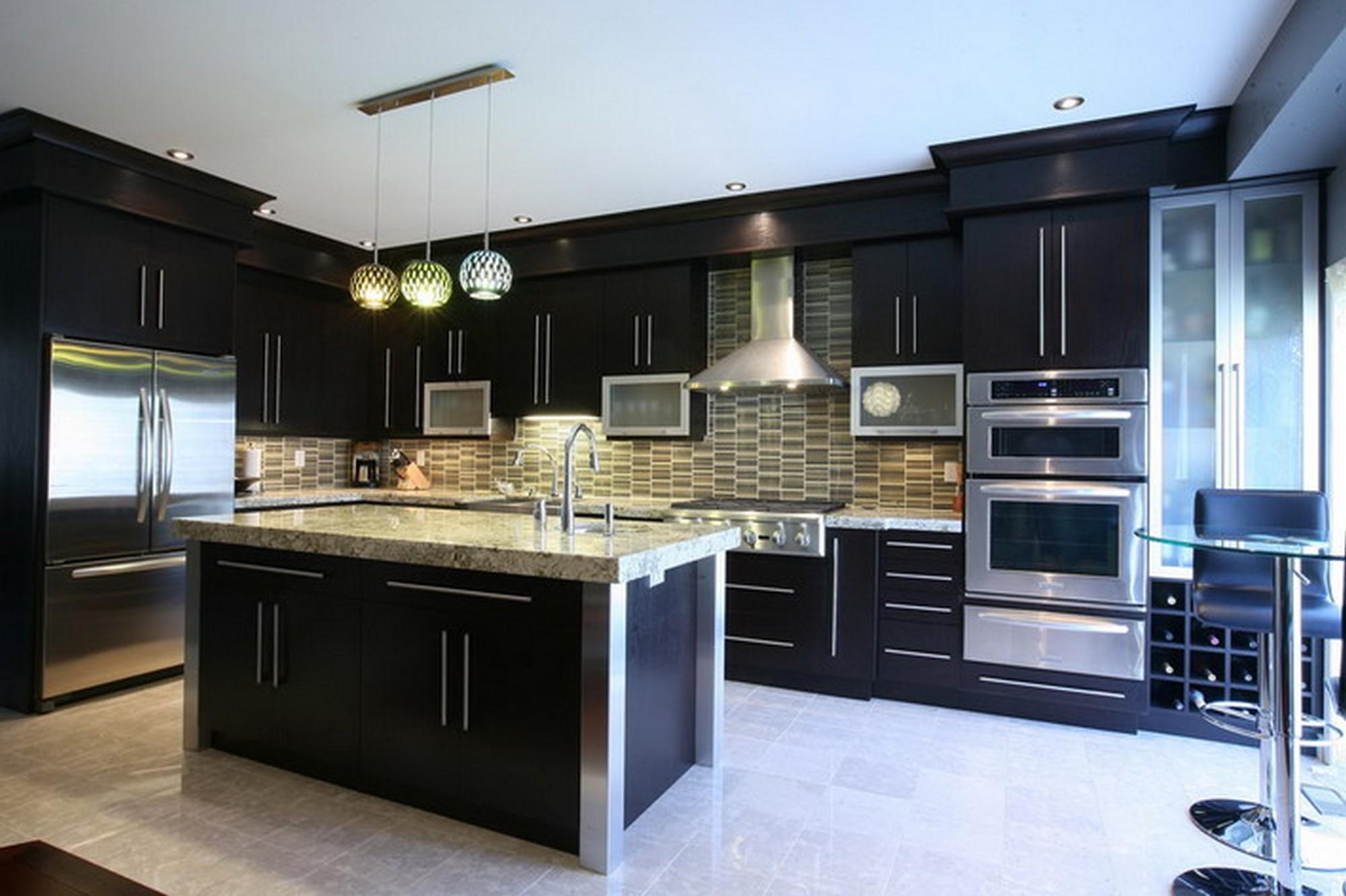 View In Gallery Hiasan Dalaman Dan Dekorasi Dapur Moden Kontemporari