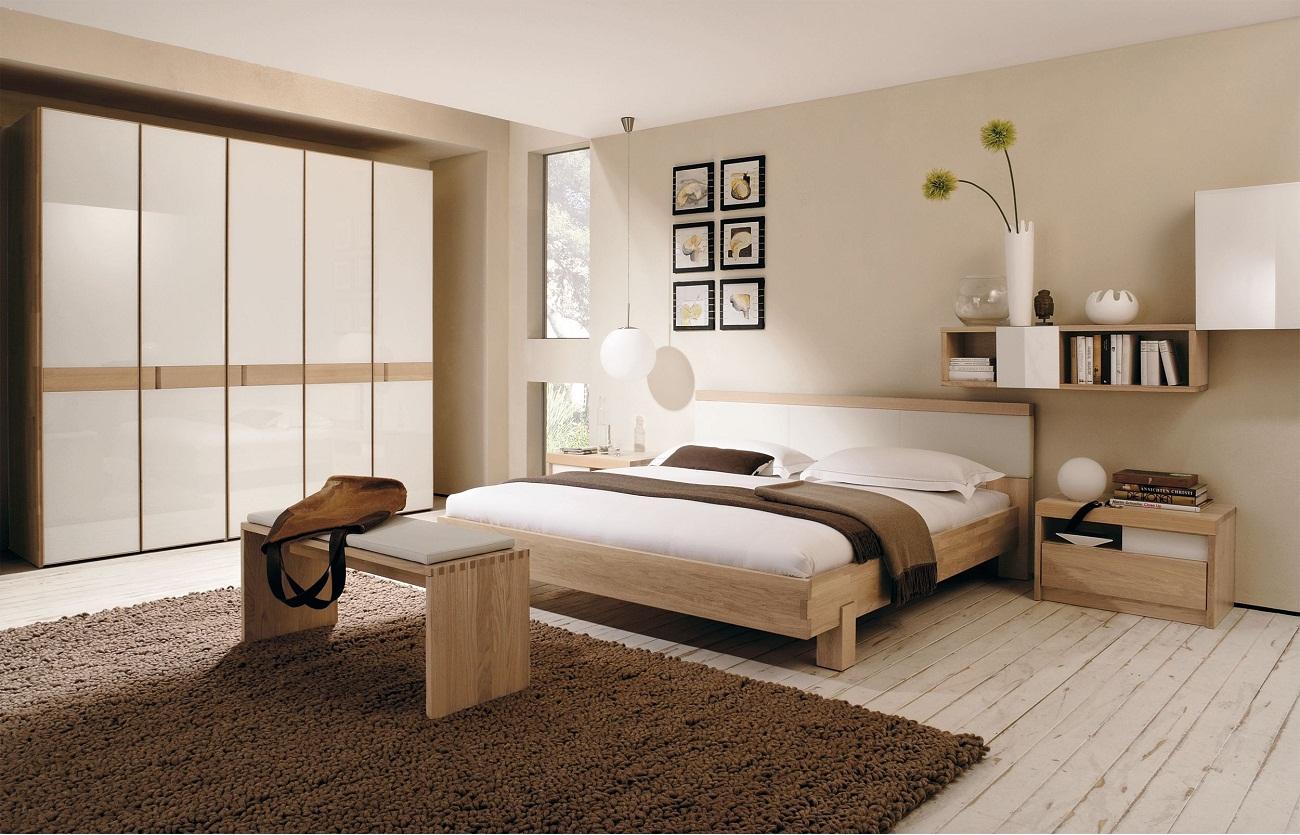 View In Gallery Hiasan Bilik Tidur Dengan Warna Dinding Kelabu Dan Beige