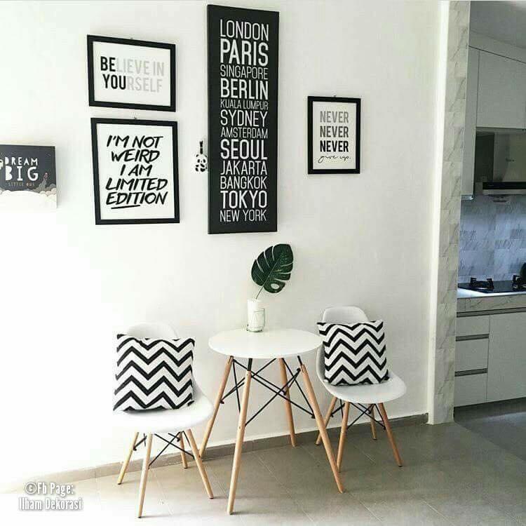 Hiasan dalaman ringkas dan minimalis bertema putih (6)