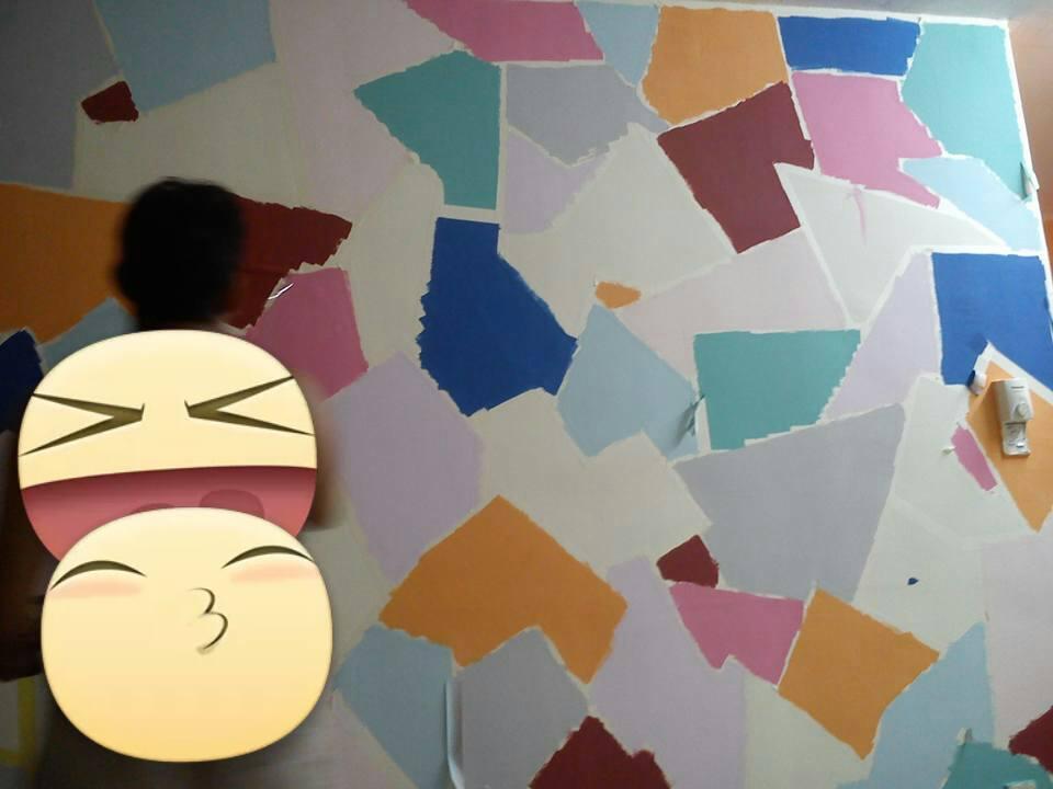 View In Gallery Idea Diy Cat Dinding Dengan Masking Tape