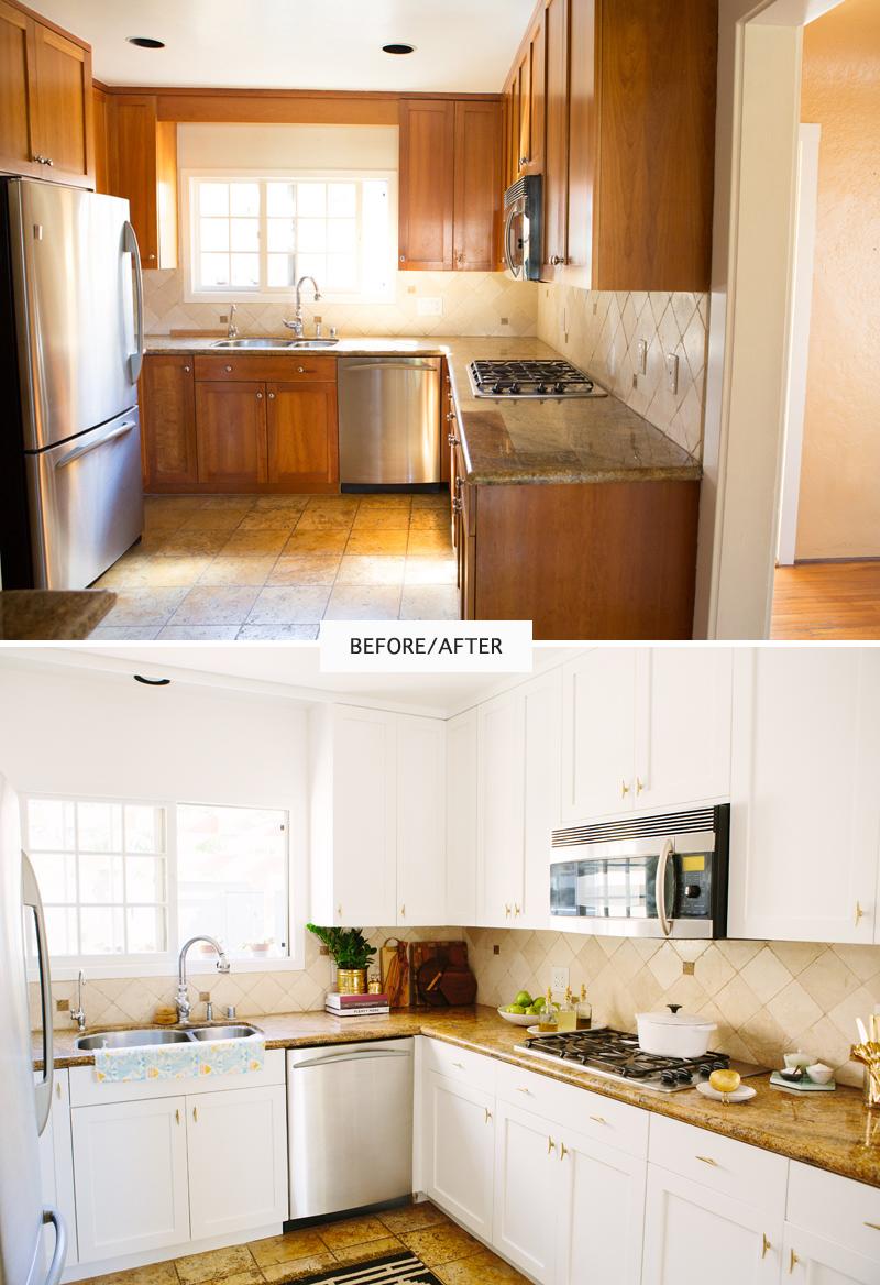 View In Gallery Idea Mengecat Pintu Kabinet Untuk Upgrade Penampilan Dapur