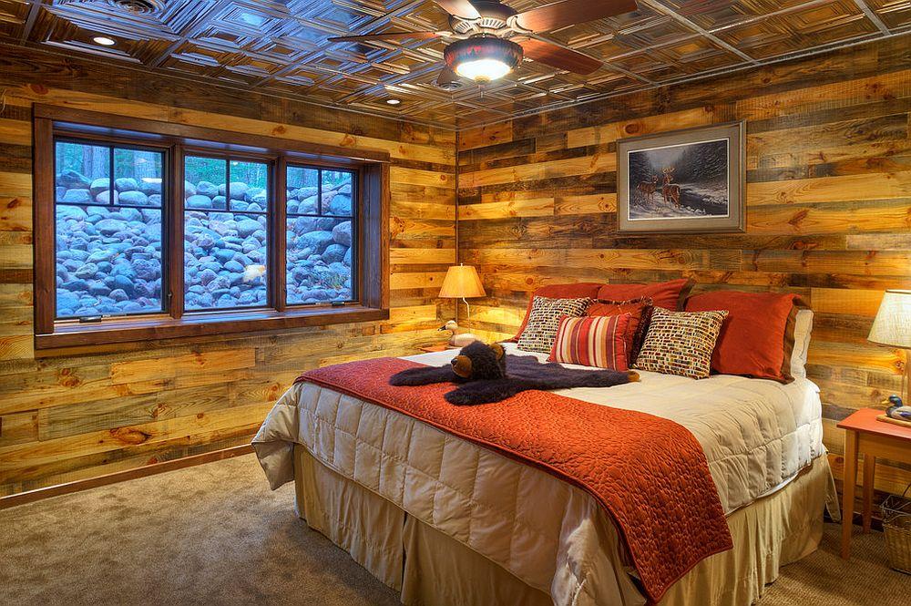 Idea rumah rehat yang pasti menenangkan dengan dinding kayu