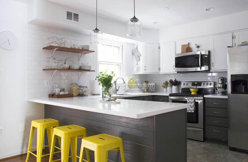 View In Gallery Trend Hiasan Dalaman Dapur Dengan Warna Kelabu