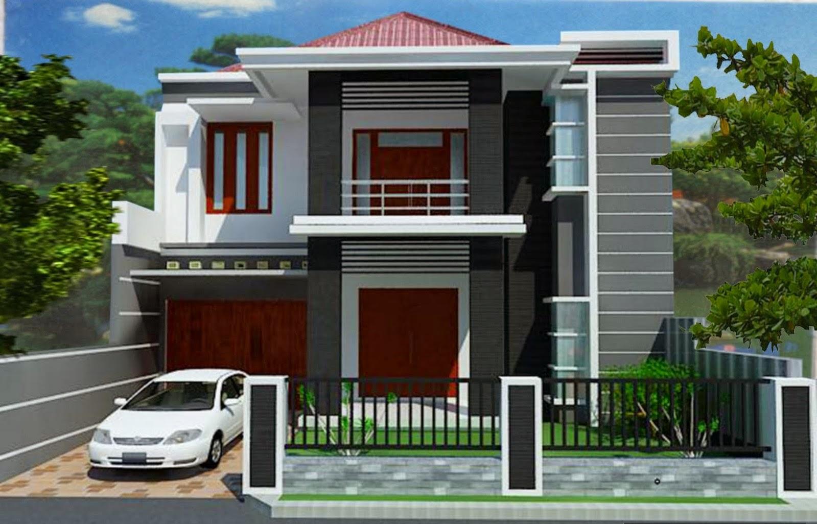 Contoh rekabentuk rumah moden 2 tingkat yang membawa konsep minimalis