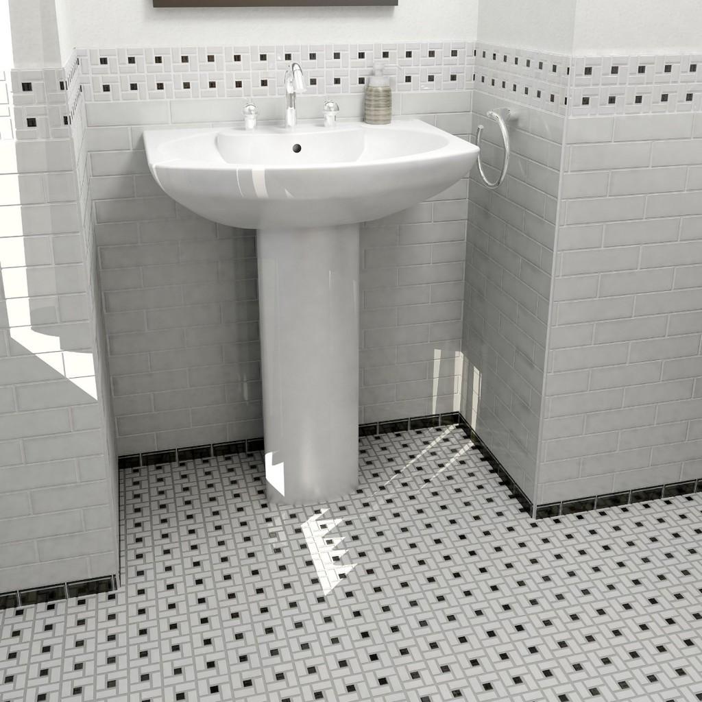 Corak mozek lantai bilik air Pinwheel