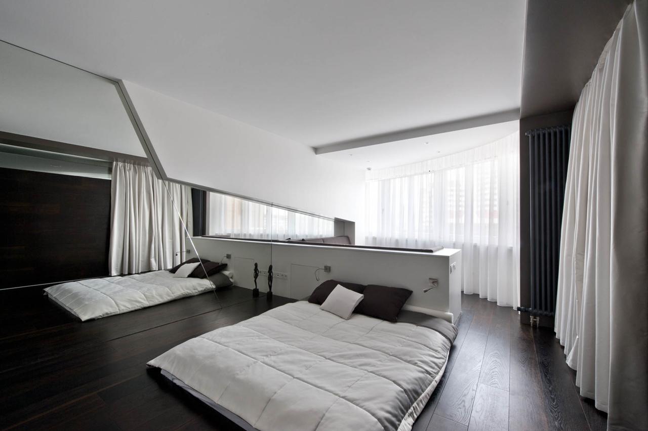 View In Gallery Dekorasi Bilik Tidur Tanpa Katil Dengan Divider Cermin