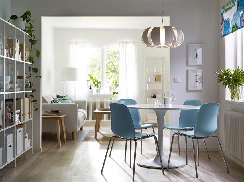 Gaya Kontemporari Scandinavian Dengan Lampu Gantung Untuk Ruang Makan