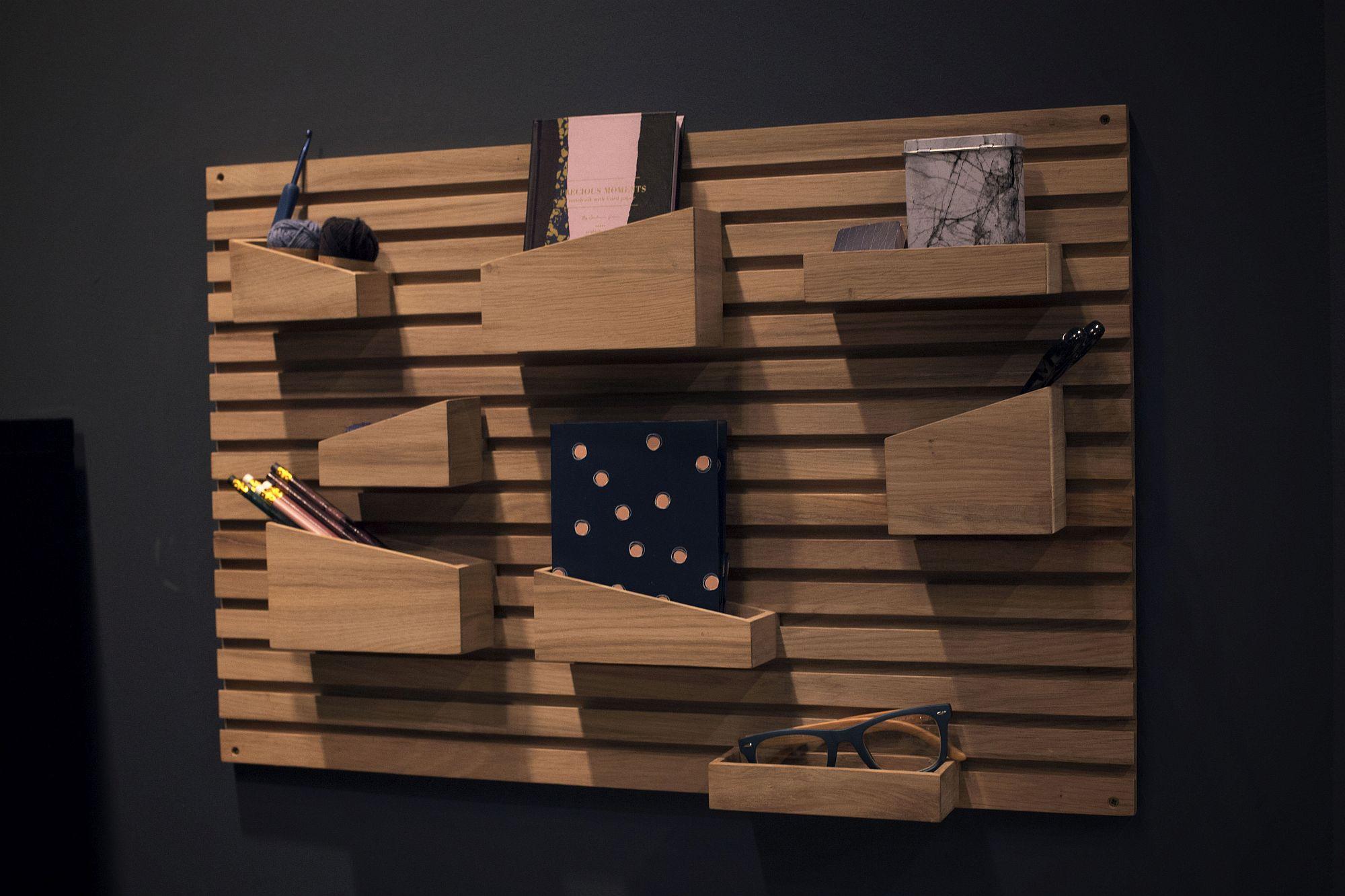 Hiasan dinding dan ruang susun barang yang cantik dan praktikal