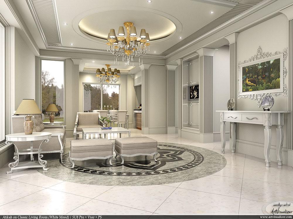 Idea Dekorasi Ruang Klasik Aspirasi Warna Lembut