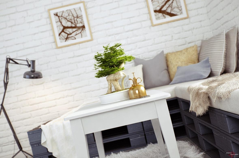 Idea diy set sofa pallet untuk ruang minimalis