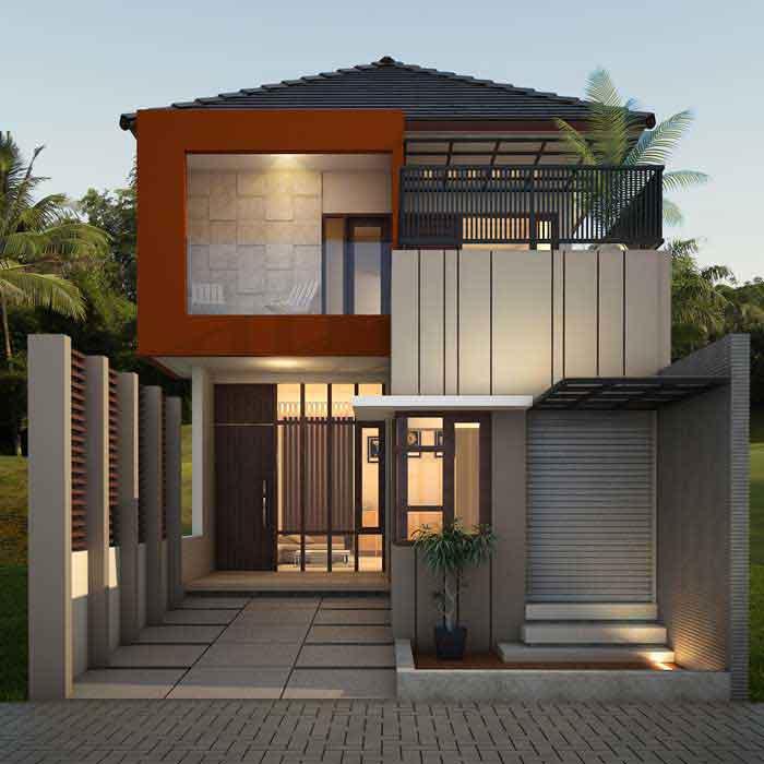Model rumah modern minimalis 2 tingkat
