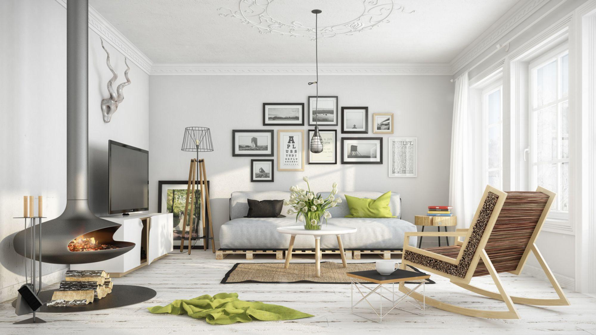 Pallet sofa juga mampu dijadikan perabot untuk konsep hiassan scandanavian
