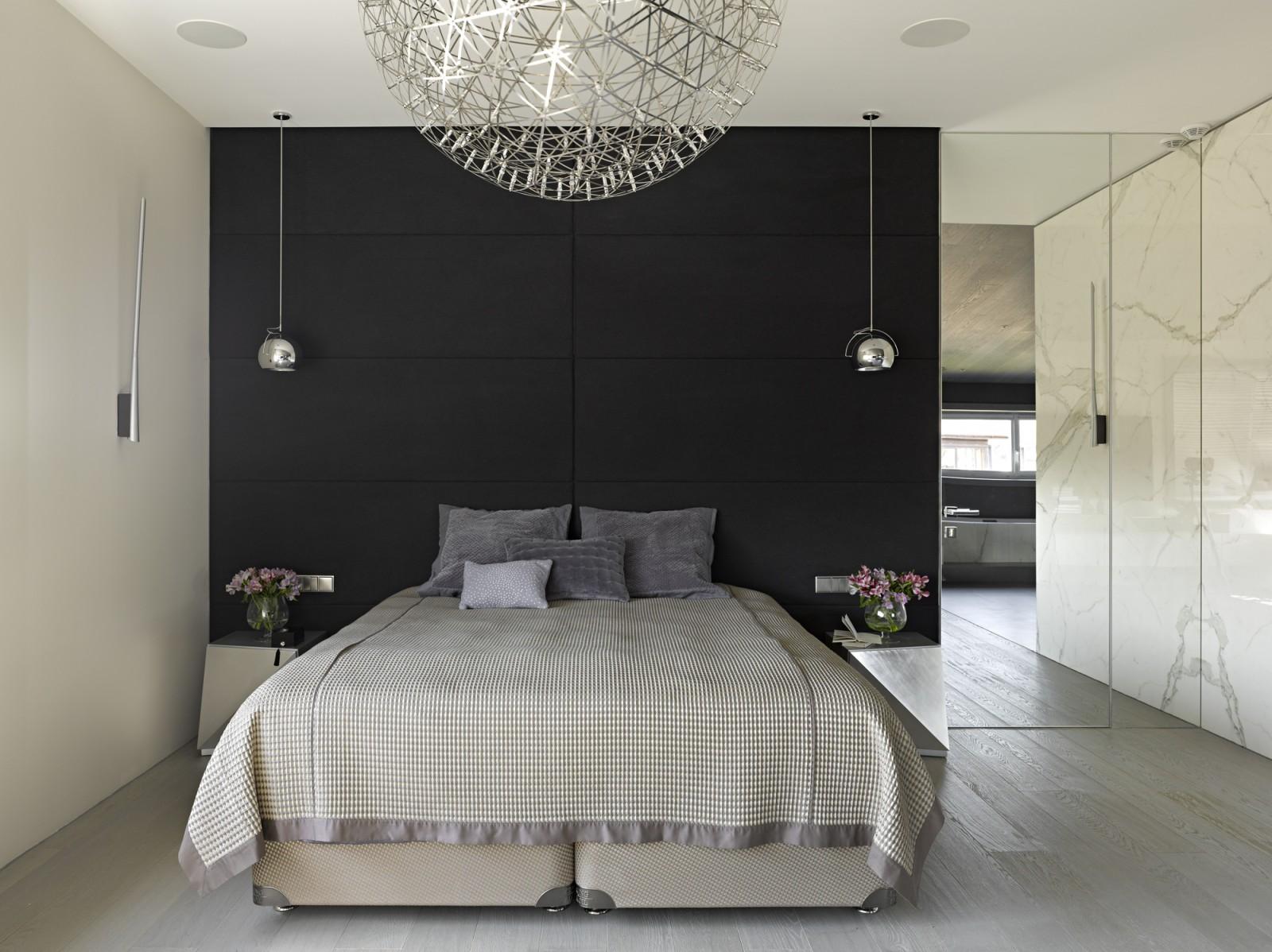 View In Gallery Rekaan Bilik Tidur A Mewah Dengan Dinding Marbel