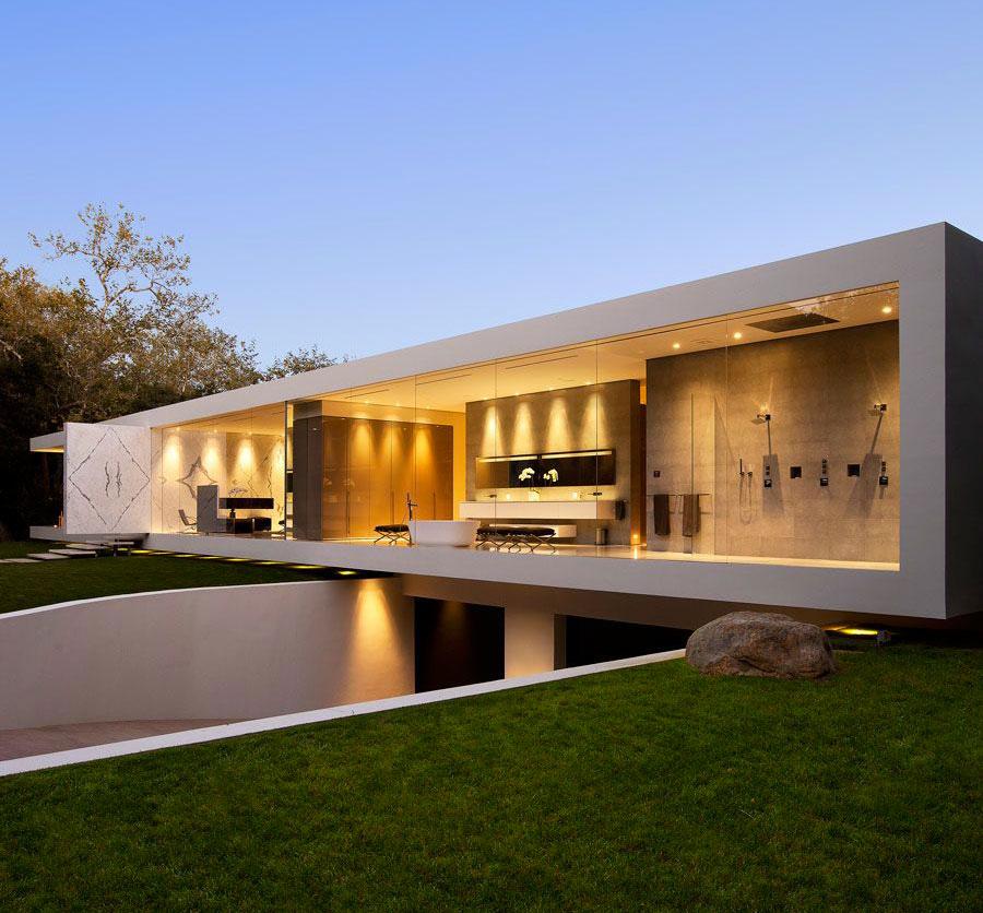 Rekabentuk Rumah Minimalis Moden dan Mewah Dengan Dinding Kaca