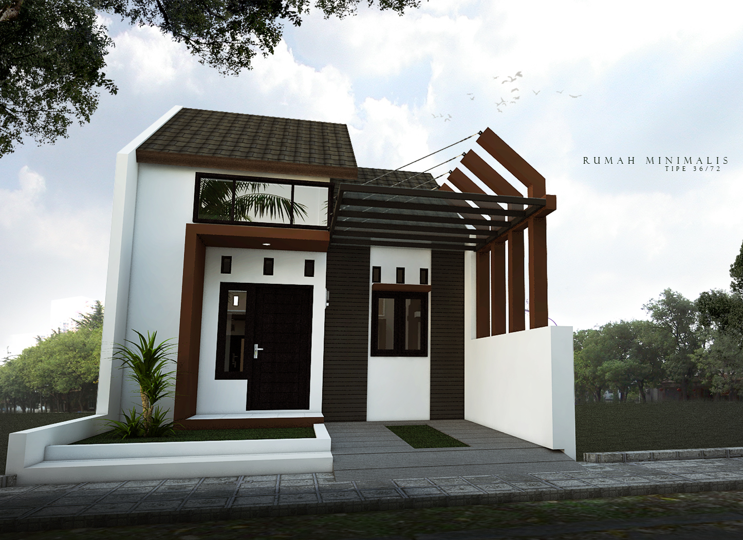 Rumah minimalis modern masa kini