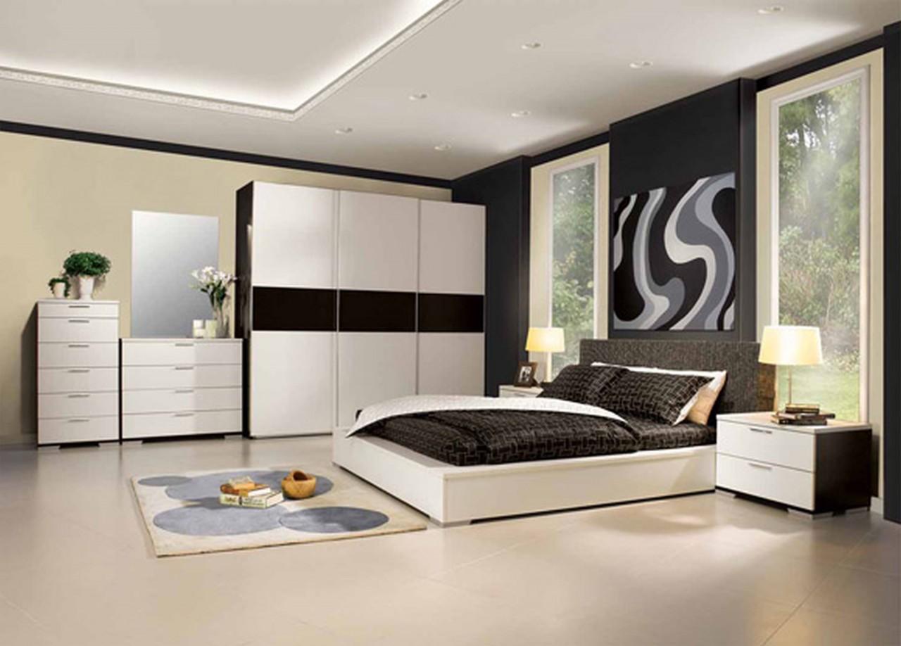 View In Gallery Bilik Tidur A Kontemporari Dengan Perabot Putih Dan Katil King Size
