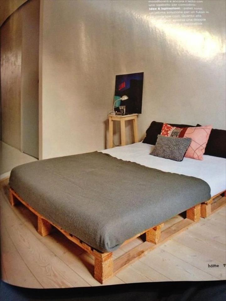 Design katil kayu pallet yang mudah