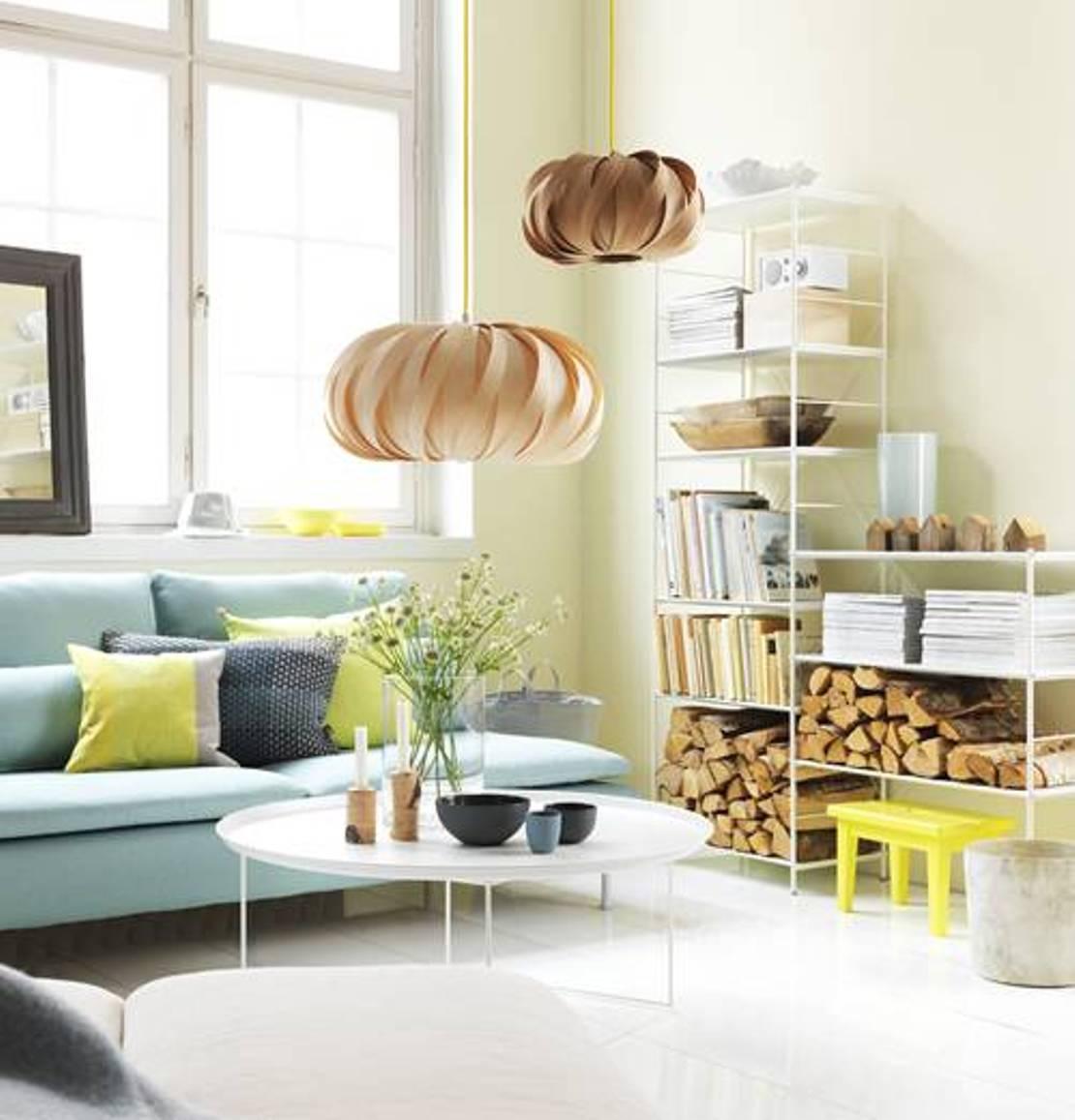 Gabungan warna pastel lembut untuk ruang tamu yang lebih menarik