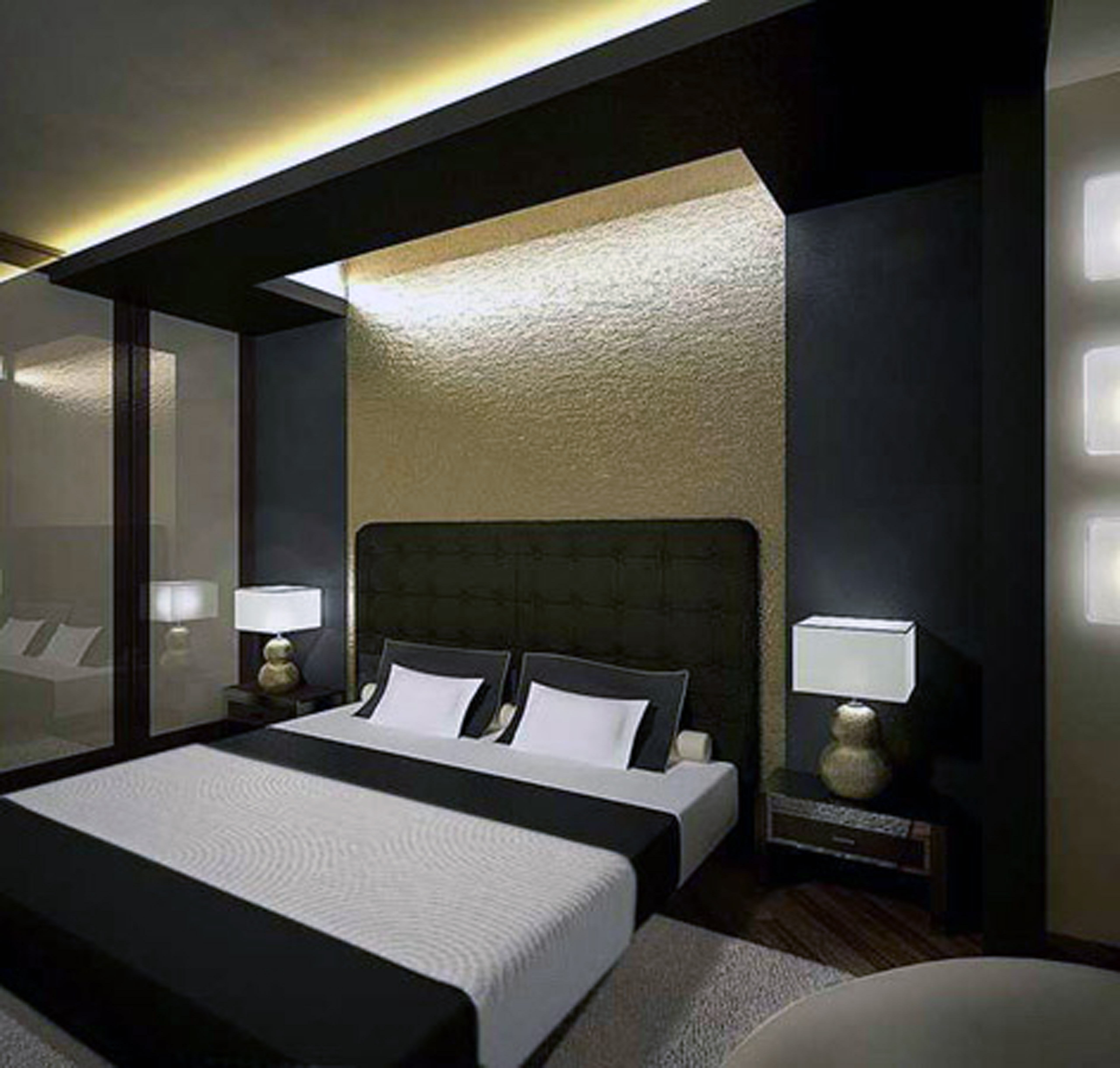 View In Gallery Hiasan Dalaman Bilik Tidur Dengan Konsep Moden Kontemporari Gabungan Perabot Mewah