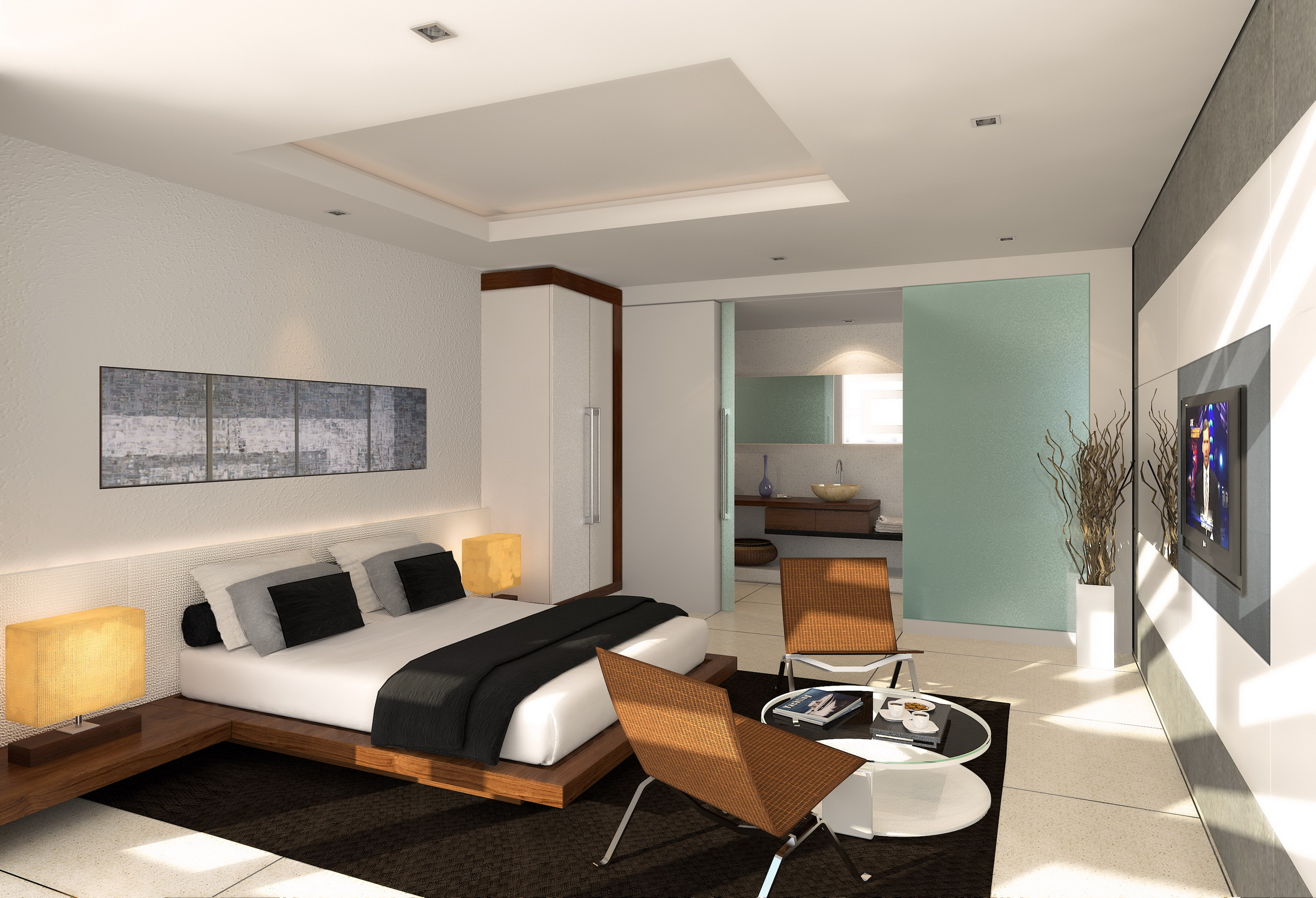 Idea Dekorasi Bilik Tidur Master Dengan Konsep Kontemporari Moden Susunan Perabot Yang Minima