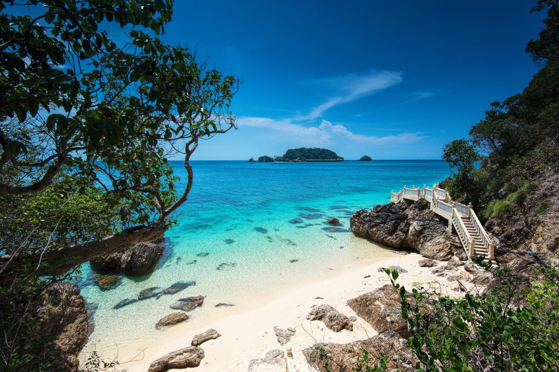 Pantai di Pulau Kapas yang sangat cantik