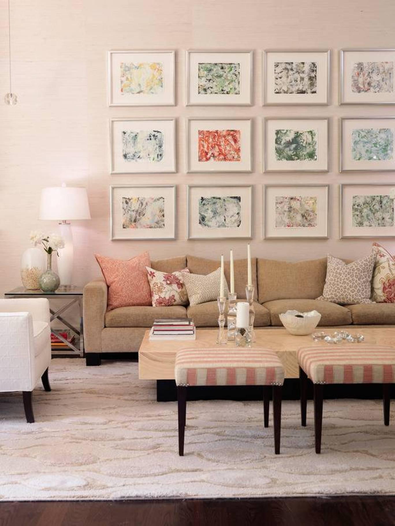 View In Gallery Warna Tema Pastel Untuk Ruang Tamu Moden