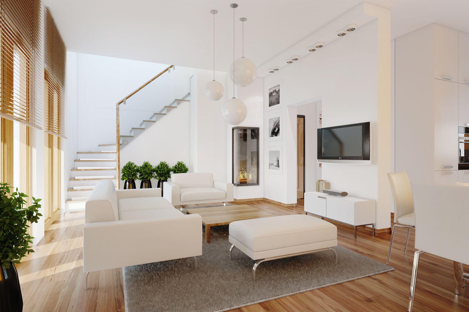 View In Gallery Contoh Hiasan Dalaman Ruang Tamu Minimalis Rumah Teres 2 Tingkat