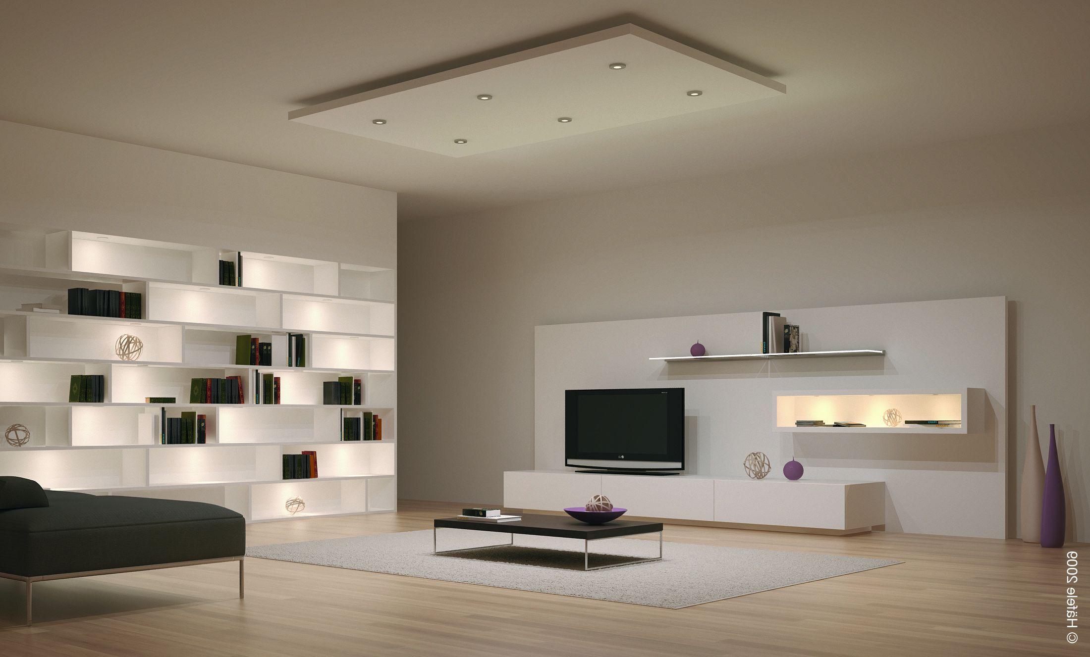 Dekorasi ruang tamu rumah minimalis moden mewah dengan lampu hiasan menarik