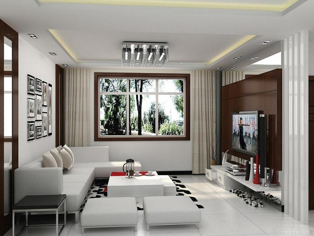 Dekorasi ruang tamu rumah sempit dengan perabot rendah
