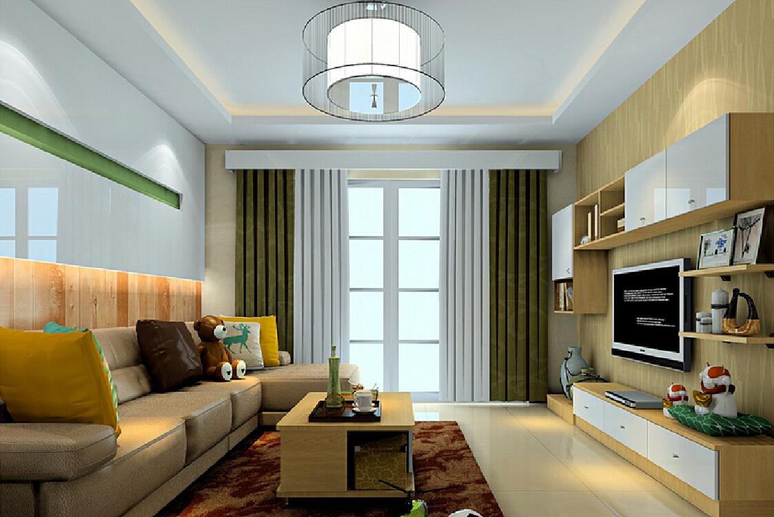 Design langsir moden gabungan warna putih dan kelabu gelap untuk ruang lebih elegant