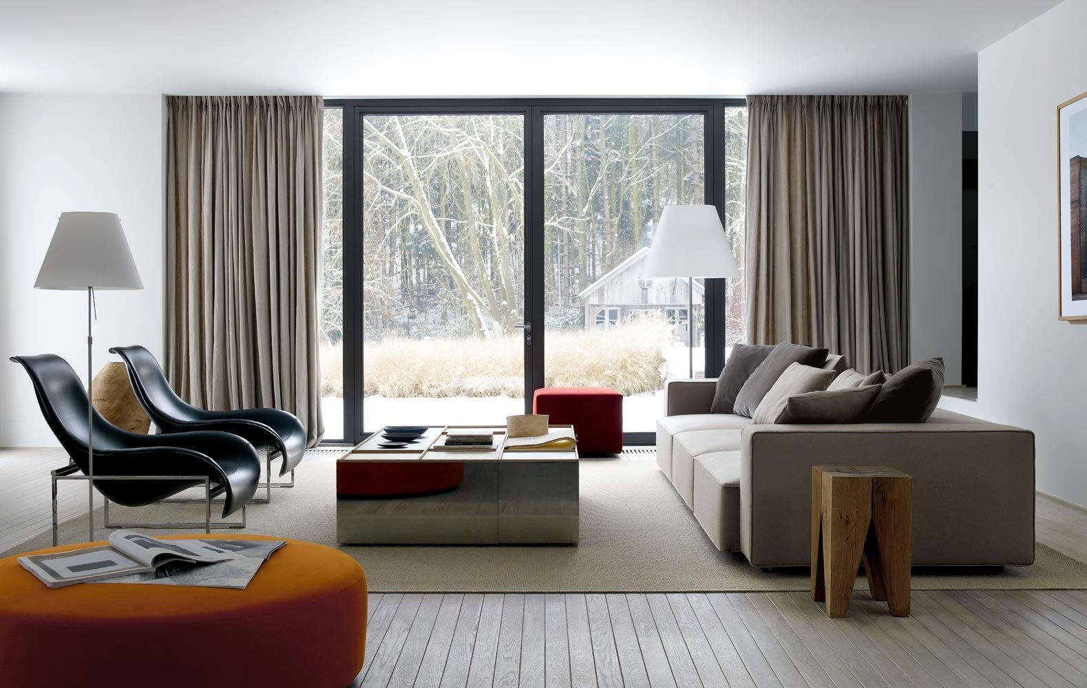 Design langsir moden yang simple sesuai untuk ruang tamu terkini