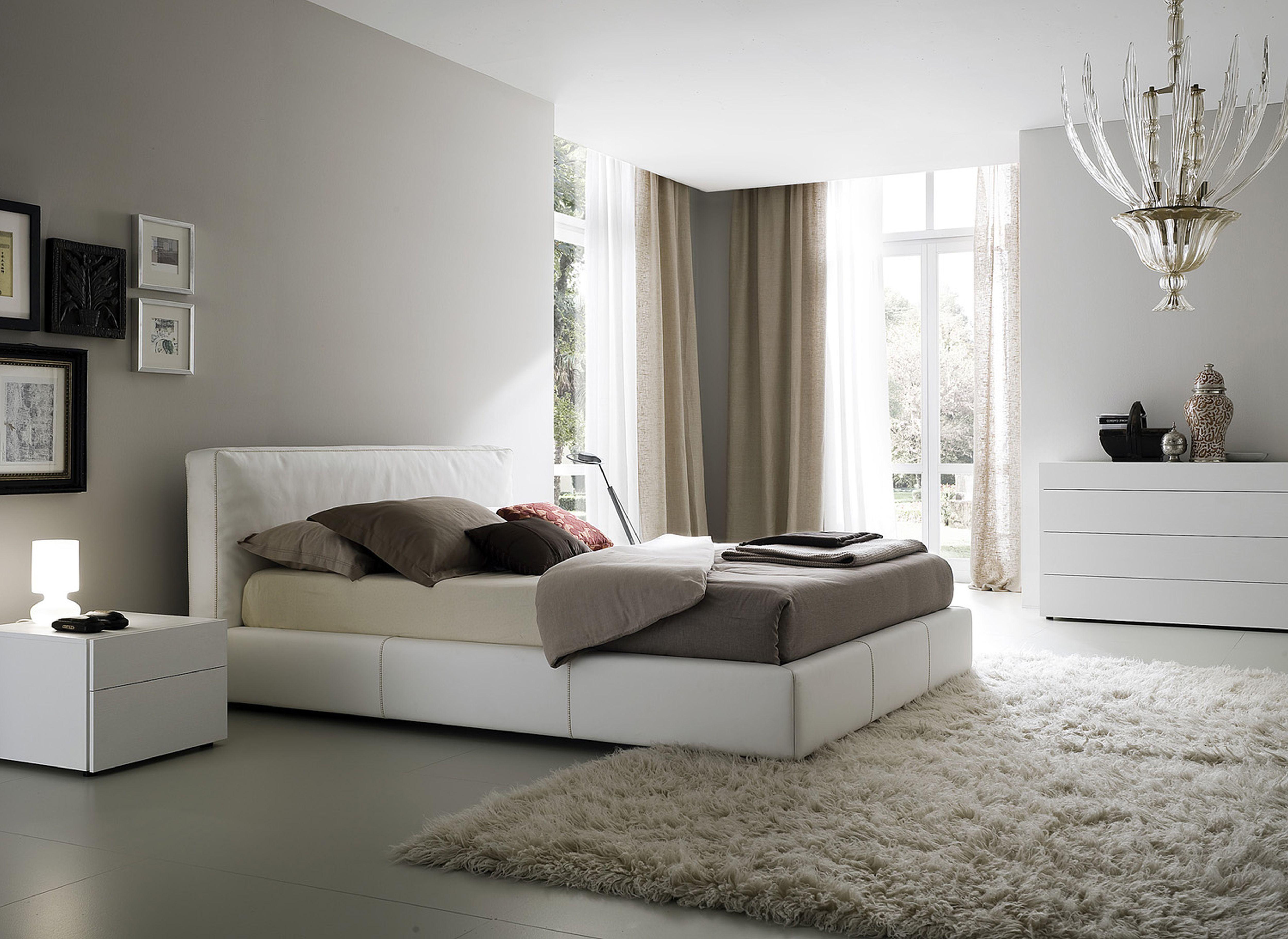Gabungan dekorasi bilik tidur sempurna dengan langsir moden dipadankan dengan warna dinding dan cadar - perfect
