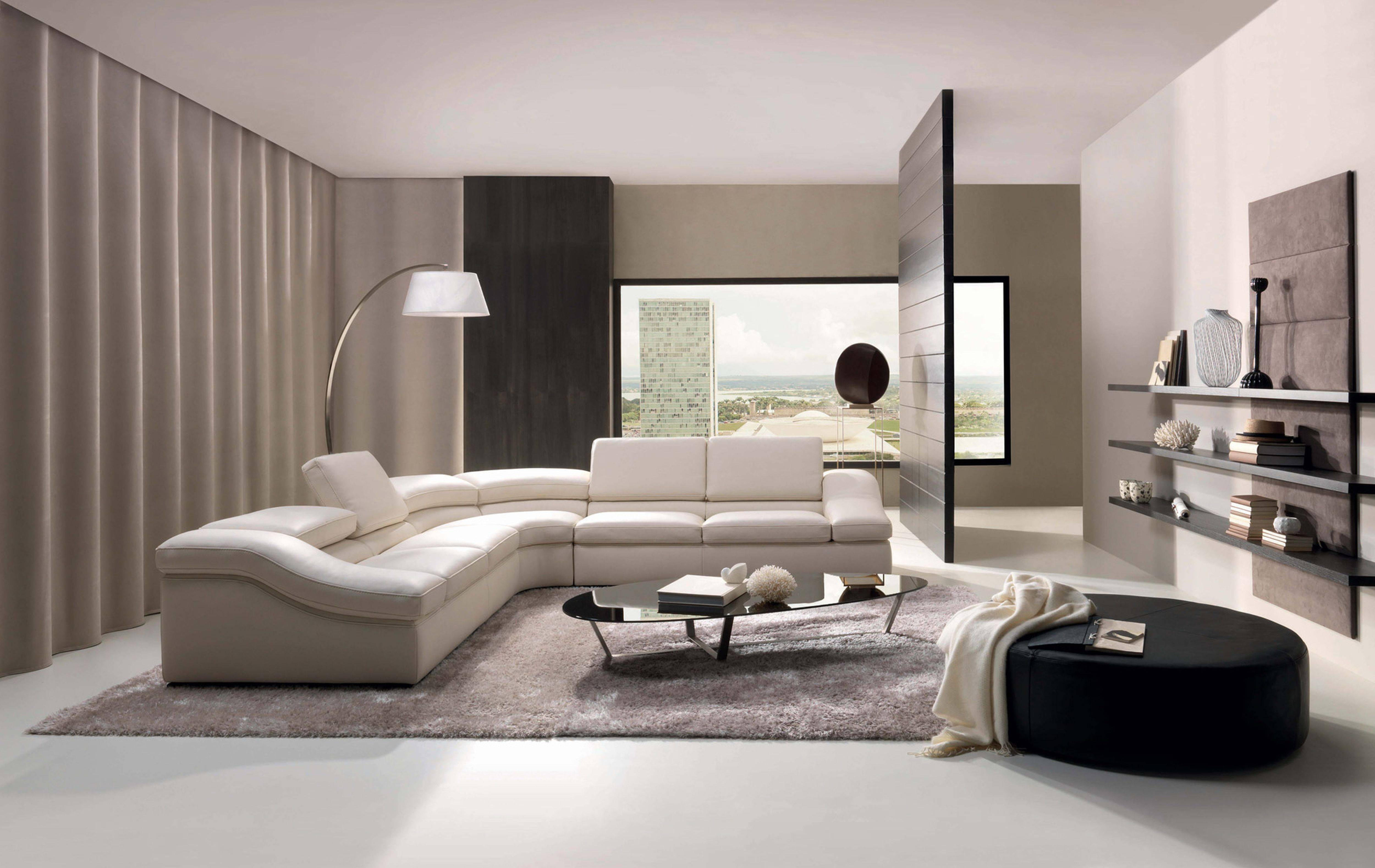 Idea langsir untuk ruang tamu moden kontemporari