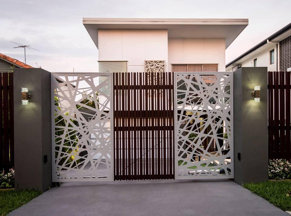 View In Gallery Idea Pintu Pagar Moden Yang Menarik Sesuai Untuk Rumah