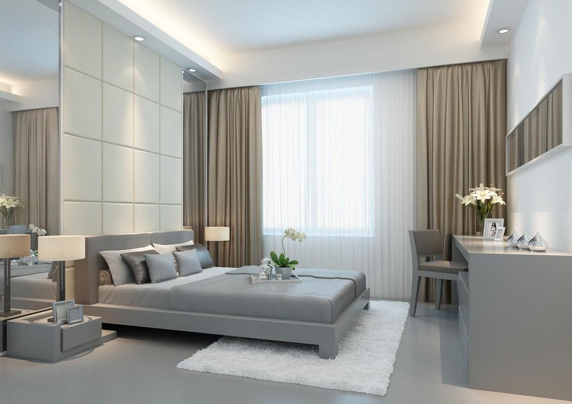 Langsir moden terkini bilik tidur utama dengan konsep kontemporari