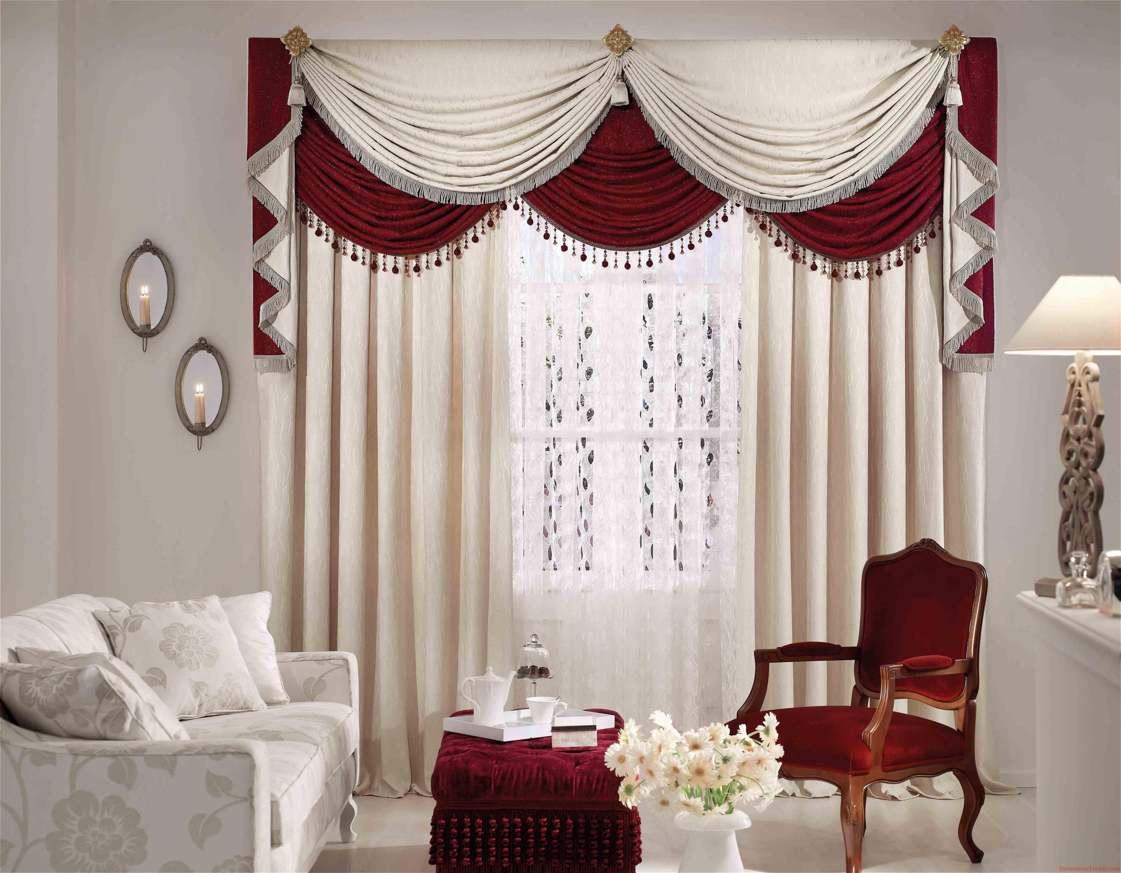 View In Gallery Langsir Putih Merah Mewah Untuk Ruang Tamu